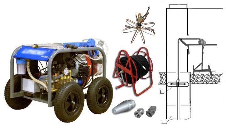 Оборудование для очистке мусоропровода, комплект для ЖКХ